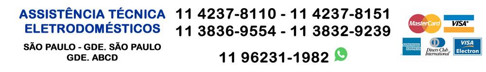 Assistência técnica especializada Electrolux 11 3836-9554